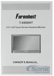 farenheit t 6500ht t6500ht single 6 5 lcd touchscreen headrest product farenheit t 6500ht