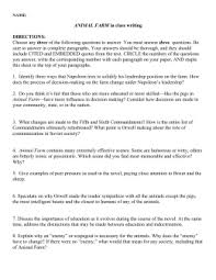 animal farm essay questions essay topics animal farm test stinsonliterature