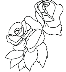 Coloring Pages Rose Flower Coloring Pages For Kids Sheets Rose