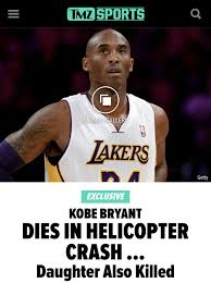TMZ is reporting that Kobe's 13-year-old daughter Gianna ...