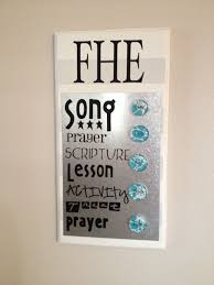 Family Home Evening Chart Ideas Fhe Board Family Home Evening Chart Magnet Board Family