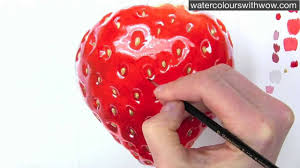 how to paint a realistic strawberry in watercolor by anna mason you