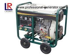 small portable diesel generator. 4 - Stroke Portable 5kw Diesel Generator , Small Power With Manual / Electric Start N