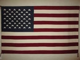 american flag navajo weaving by bertha harvey smaller size