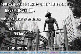 Survival Quotes Beauteous Quote Of Bear Grylls QuoteSaga
