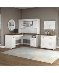 white l shaped desk with hutch. Exellent Hutch Fairview L Shaped Desk With Hutch And Lateral File Cabinet In White L   With O