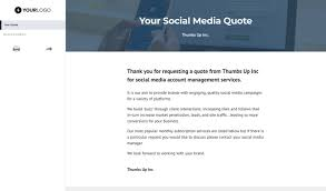 How To Quote A Website Free Social Media Quote Template Better Proposals