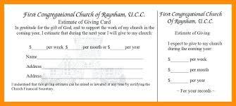 Donation Pledge Cards Church Card Template Supergrafica Co Kupit