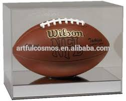Football Display Stands New Design Customized Acrylic Box Stand With Baseacrylic Display 59
