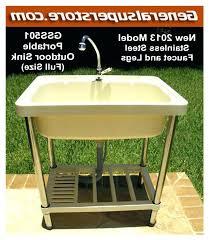 outdoor sink table garden station portable