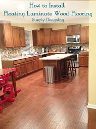 how to install floating laminate wood flooring diy homeimprovement flooring simply