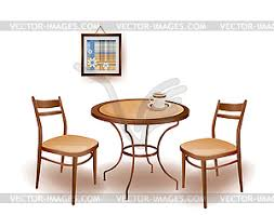round table and chairs clipart. of round table and chairs - vector eps clipart