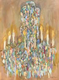 amy dixon chandelier degas post impressionist vertical mixed media on canvas painting painting for at 1stdibs