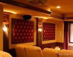 home theater acoustic panels. columns sconces and acoustic panels in home theater