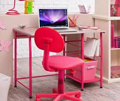 image of pink office chair with arms