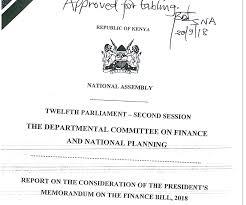 Report On The Consideration Of The Presidents Memorandum On