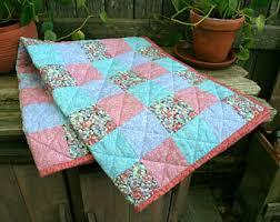 Vintage baby quilt | Etsy & Handmade Baby Quilt Adamdwight.com