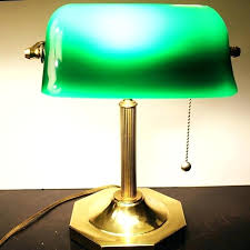 lime green table lamp shade desk with brass glass
