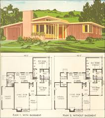 mid century modern house plans. 1954 National Plan Service - No. 5305 Mid Century Modern House Plans S