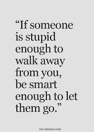 Stupid Quotes Cool If Someone Is Stupid Enough To Walk Away From You Be Smart Enough