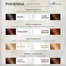 Phibrows Color Chart Phi Hena Shades Henna Color Chart Phibrows Usa Art Of