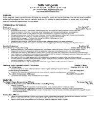 Resume I M Seth Feingersh