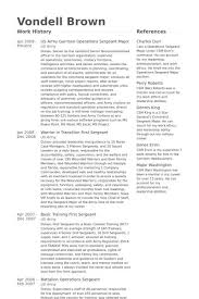 Army First Sergeant Resume Professional Resume Templates