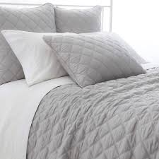 Quilted Silken Solid Grey Bedding design by Pine Cone Hill – BURKE ... & Quilted Silken Solid Grey Bedding design by Pine Cone Hill Adamdwight.com