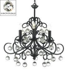wrought iron crystal chandelier s h30 x w28 mini black