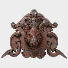 antique black forest hand carved wood