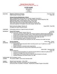 graduate nurse resume template entry level nurse resume template free downloadable resume
