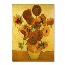 vase with sunflowers by vincent van gogh painting print on canvas