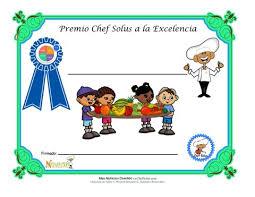 Certificado En Blanco Para Los Niños Por Las Opciones Saludables