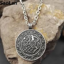 1pcs new dropshipping sleipnir viking pendant viking necklace scandinavian norse viking jewelry with 50cm metal chain sanlan