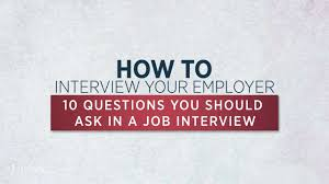 job interview questions you should ask