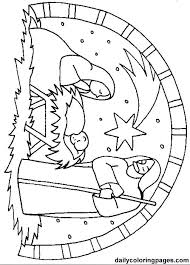 Free Bible Coloring Pages Plus Nativity Scene Coloring Page Nativity