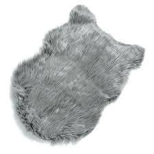 gray faux fur rug dark grey faux sheepskin rug fur gray gray faux fur rug 8x10