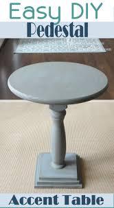 diy pedestal accent table