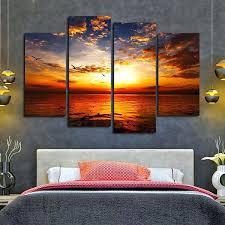 sunset wall art sunset at beach multi panel canvas wall art lavender sunset wall art  on lavender sunset wall art with sunset wall art 4 panel canvas wall art sunset giraffes canvas wall