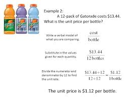 Example Of Unit Price Vocabulary Review Unit Rates Ppt Video Online Download