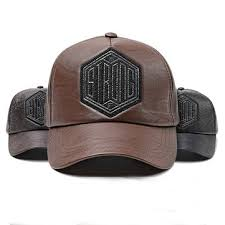 men <b>women winter pu leather</b> baseball cap dad hat at Banggood