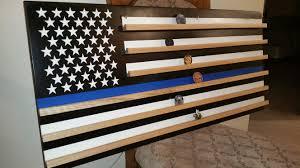 blue line flag coin rack