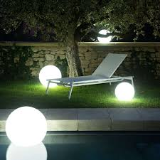 white illumination in use with globe led indoor outdoor lamp
