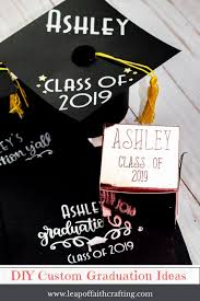 diy graduation party ideas diy custom napkins decorated graduation cap out of paper and