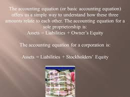4 the accounting equation or basic