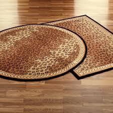 leopard area rug black brown