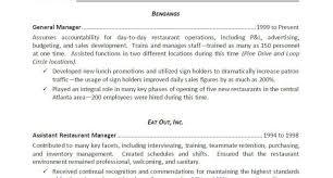 Full Size Of Server Resume Examples Sample Restaurant Manager