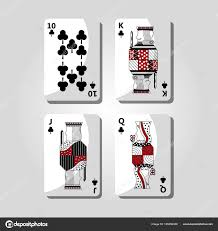 Poker Design Poker Casino Cards Playing Club Design Stock Vector
