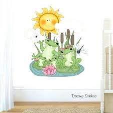 nursery stickers for walls details about frog nursery decal baby boy girl kids wall art room