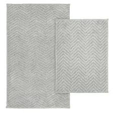 chevron bath rug palazzo 2 piece rug washable bathroom rug set in silver blue chevron bath